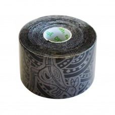 Dynamic Tape Eco Tatto (чёрный с серой тату) 5см х 5м