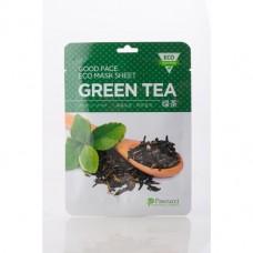 Маска для лица на нетканой основе с экстрактом зеленого чая, 1 ШТ
