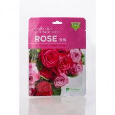 Маска для лица на нетканой основе с экстрактом розы, 1 ШТ