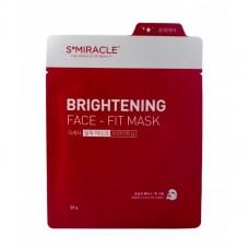 Маска для лица придающая сияние S+MIRACLE BRIGHTENING FACE-FIT MASK, 1 ШТ